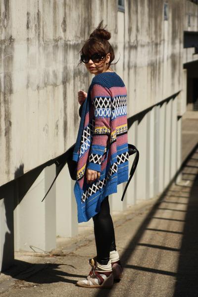 romwe sunglasses - ohmyfrock cardigan - Isabel Marant sneakers