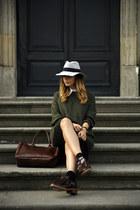 oxfords brogues FILIPE SOUSA shoes - Maison Michel hat - green wool H&M sweater
