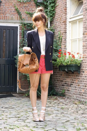 vintage blazer - Oasis shoes - asos purse - Self Made shorts