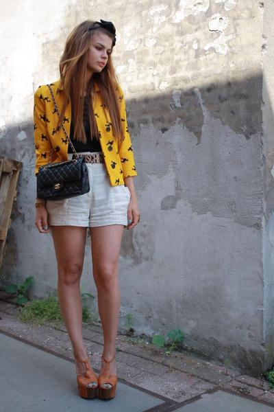 H&M jacket - Moschino belt - Jessica Simpson shoes