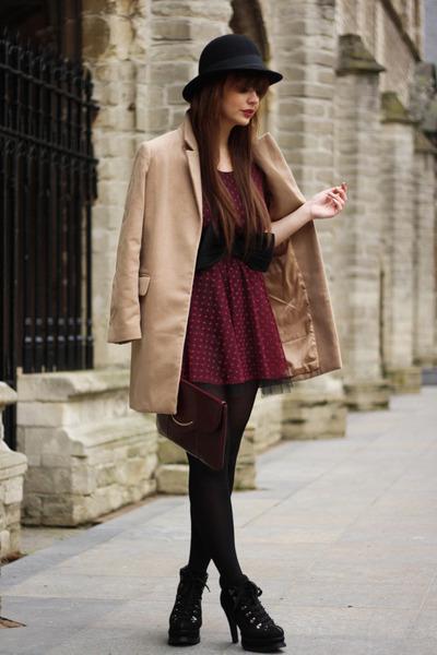 fashionzenvintage bag - romwe boots - Love dress - romwe coat