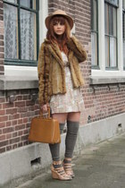 froufrousnl dress - H&M coat - vintage bag