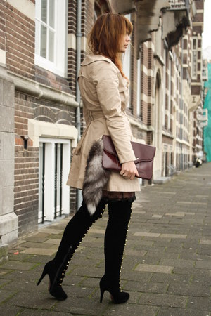 vintage jacket - mabellewardrobe boots - vintage dress