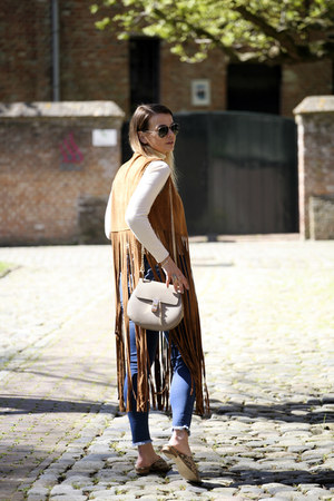 fringe Missguided jacket - skinny Northmore Denim jeans - Chloe bag