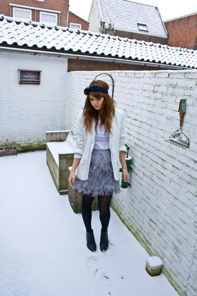 Topshop skirt - River Island blazer - H&M boots