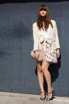 Miu Miu shoes - H&M blazer - asos purse - American Apparel belt - Only skirt