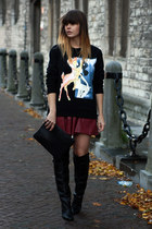 bambi printed sweater - H&M boots