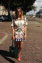 Choies boots - Sheinside dress - GLASSESSHOP sunglasses