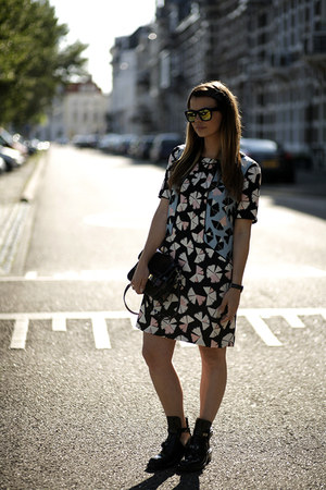 balenciaga boots - Marc by Marc Jacobs dress - PROENZA SCHOULER bag - sunglasses