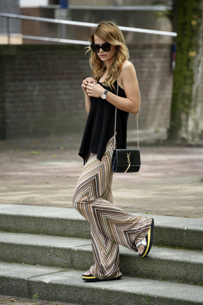 Missoni pants - Teva sandals