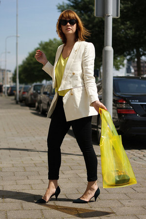 Feedyoustyle jacket - H&M bag - Zara pumps