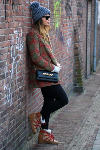 tartan 6ks coat - Isabel Marant boots