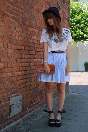 vivienne westwood x melissa shoes - Zara skirt - Topshop top - vintage purse