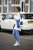 Saint Laurent boots - Monki sweater - asos sweater - Daughter of Jon bag