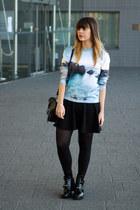 Sheinside sweater - balenciaga boots