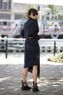 Balenciaga-boots-acne-dress