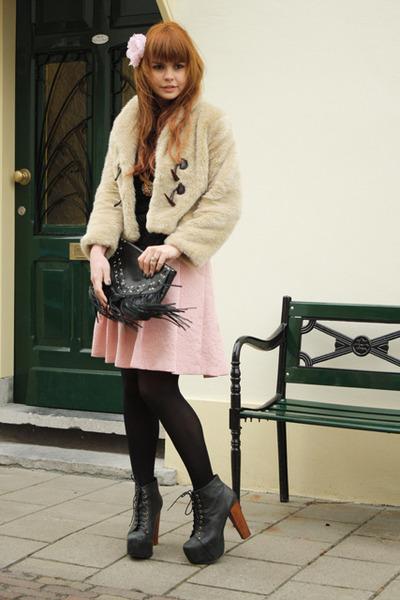 JC Lita boots - romwe jacket - romwe skirt