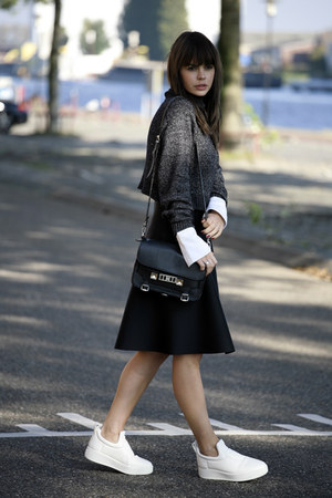 Celine sneakers - PROENZA SCHOULER bag - acne skirt