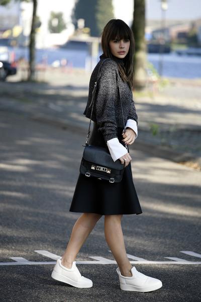 Celine sneakers - PROENZA SCHOULER bag - acne skirt