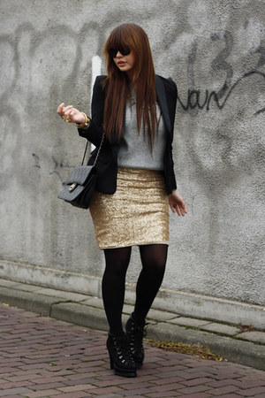 romwe boots - Love skirt