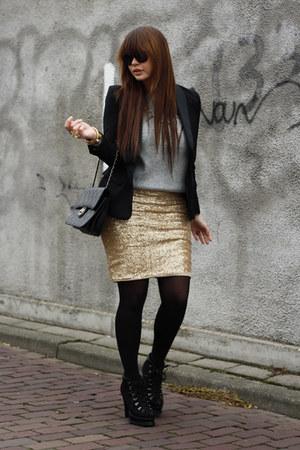 romwe boots - Love skirt