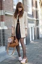 vintage blazer - Miu Miu shoes - H&M dress