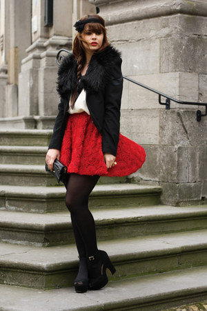 LoveClothing top - Chicwish skirt - Steve Madden heels