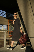 platform Stella McCartney loafers - Zara dress - antigona Givenchy bag