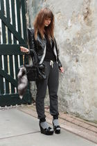 SuperTrash jacket - Sonia Rykiel shoes - Topshop pants