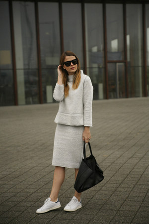 Zara top - Celine bag - &Other stories sunglasses - adidas stan smith sneakers