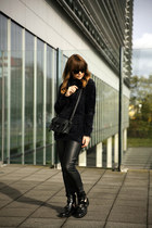 fluffy Ivyrevel sweater - cut out balenciaga boots - Celine sunglasses