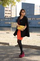 romwe cape - Vintage Sheila de Vries dress - Etnia glasses