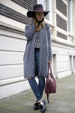 windsor cardigan - asos jeans - Givenchy bag - Missguided blouse