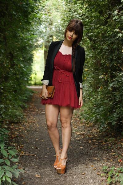 fashionzenvintage bag - Jessica Simpson shoes - Chicwish dress