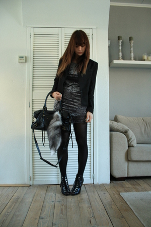 Zara blazer - H&M dress - H&M shoes