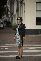 tropical Zara dress - Kill City jacket - Sheinside bag - Daniel Wellington watch