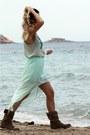 Light-brown-zara-boots-aquamarine-zara-top-aquamarine-zara-skirt