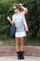 Zara boots - H&M blazer - H&M shorts