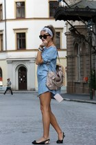 H&M dress - balenciaga bag - Ralph Lauren sunglasses - Burberry flats