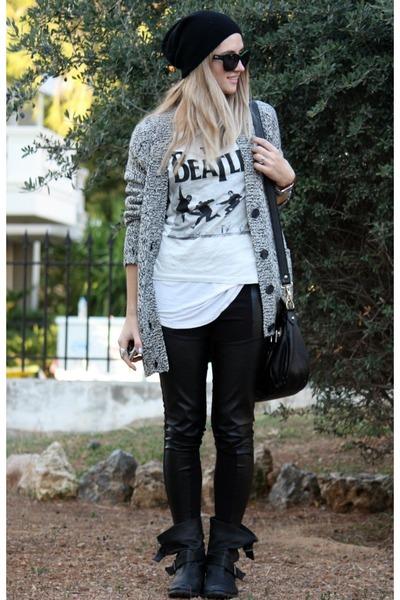 Zara boots - H&M leggings - H&M cardigan