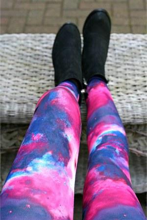 deep purple Fashioncasuals leggings