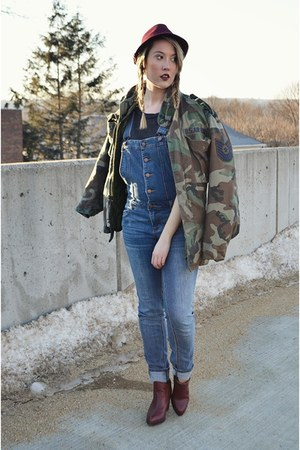 black Forever 21 shirt - crimson Urban Outfitters boots - brick red Target hat