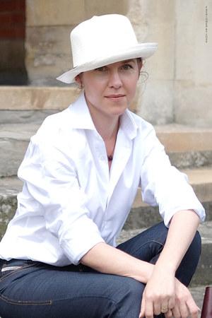 cotton twill TM Lewin shirt - denim Diesel jeans - straw Borsalino hat