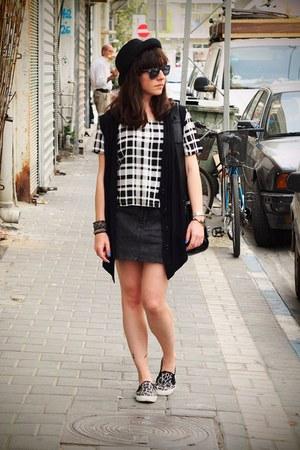 white Forever 21 shirt - gray asos shoes - gray Forever 21 skirt