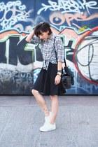black Forever 21 shirt - white asos sneakers