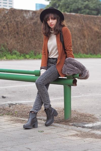tawny pull&bear blazer - dark gray H&M jeans