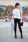 Black-zara-jeans-white-shein-shirt