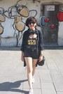 Black-h-m-shorts-black-asos-top