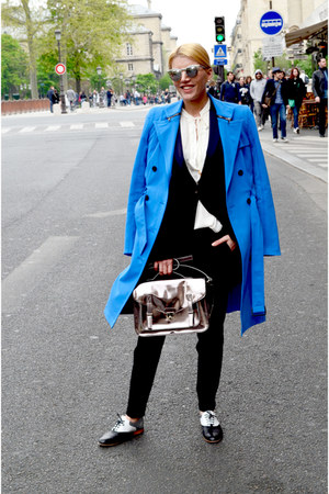 black MARC CAIN blazer - black Pertini shoes - blue MARC CAIN coat