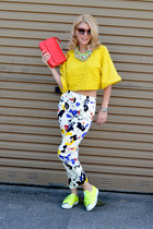 Zara bag - Prada shoes - H&M blazer - asos sunglasses - Zara pants